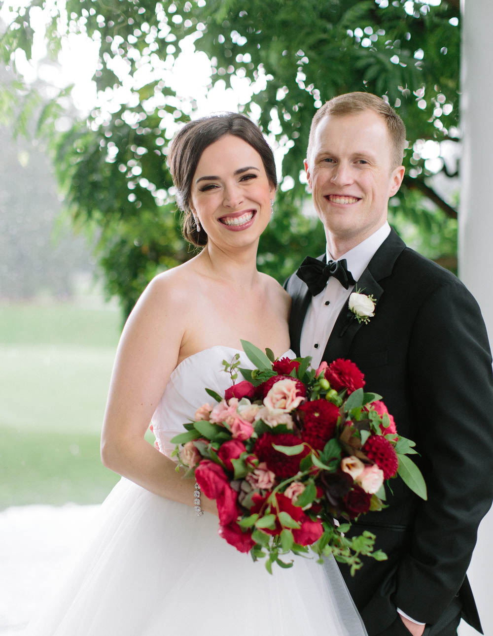 floral design at the Waverley Country Club wedding bouquet
