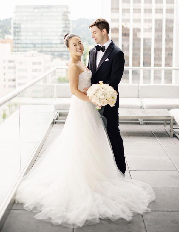 Portland Art Museum Wedding Couple