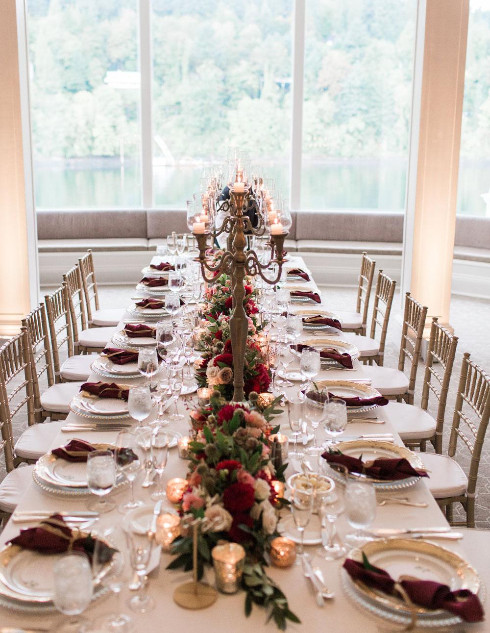 Waverly Country Club wedding dinner flowers