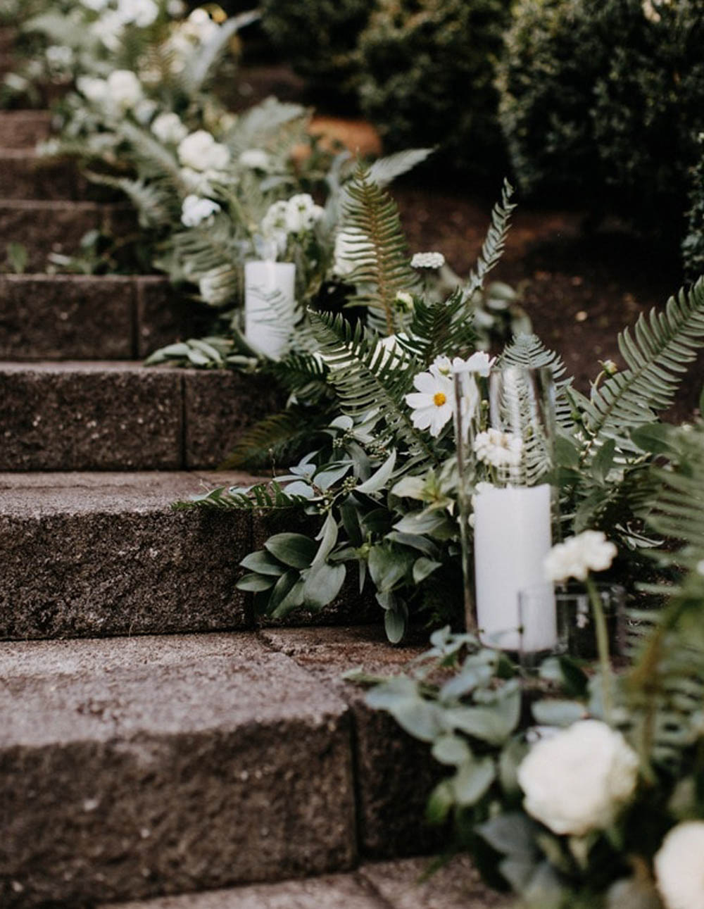 Bigham Estate Wedding stair decorations