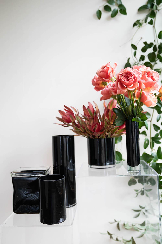 Black Glass Vases