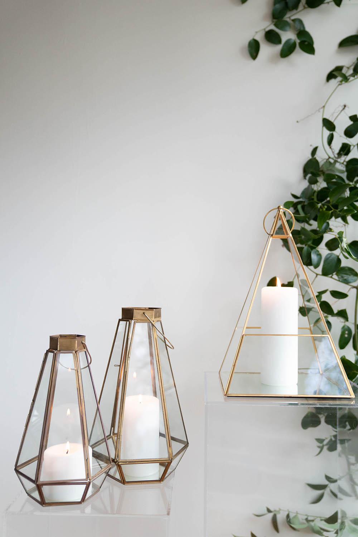 Brass Geometric Lanterns