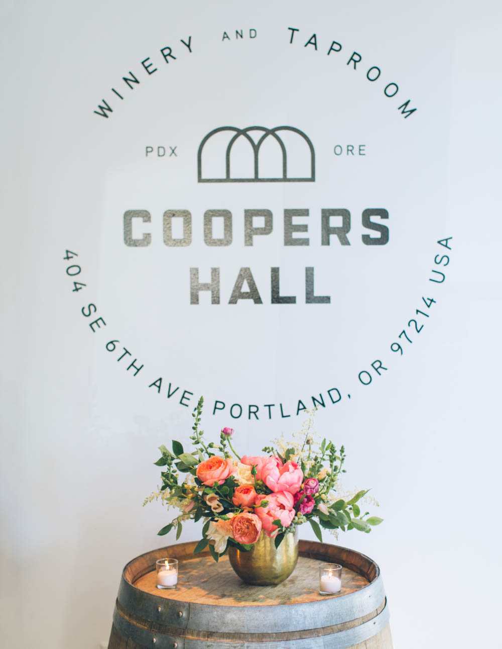 Coopers Hall Wedding entry flowers