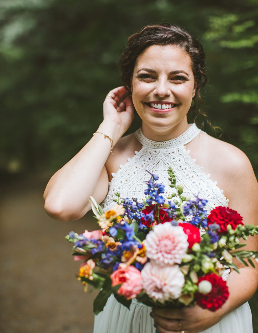 Garden wedding bouquet design