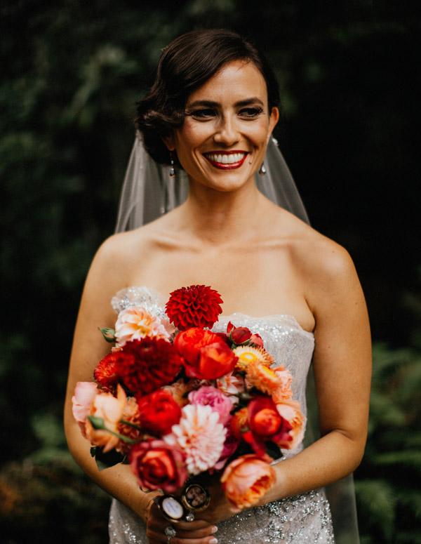 Garden wedding bridal bouquet design