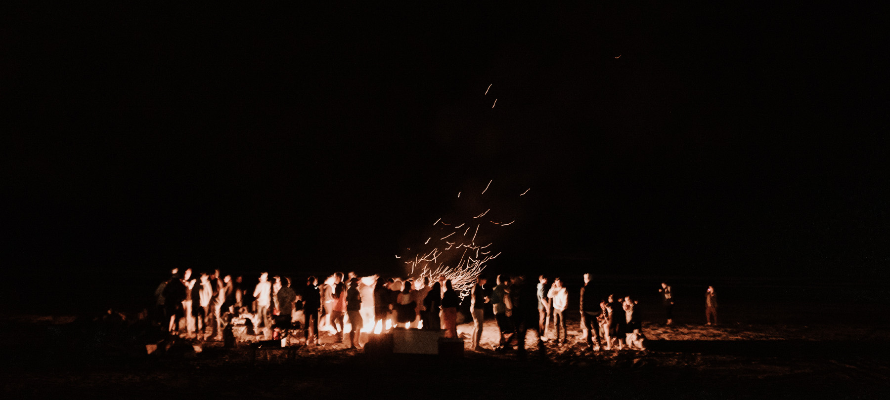 Oregon Coast wedding bonfire