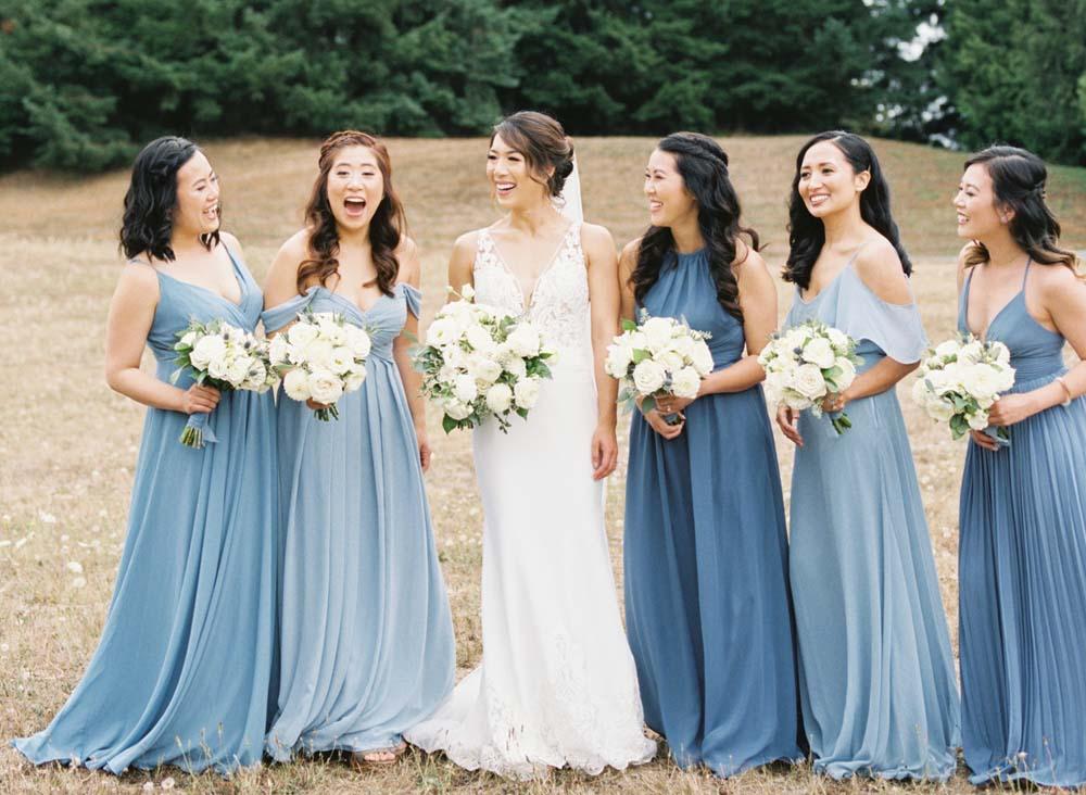 Oregon Golf Club Wedding Brides Maids