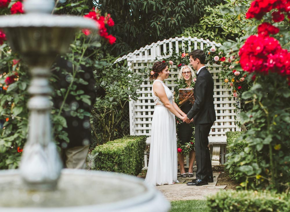 Portland Garden Wedding ceremony floral design