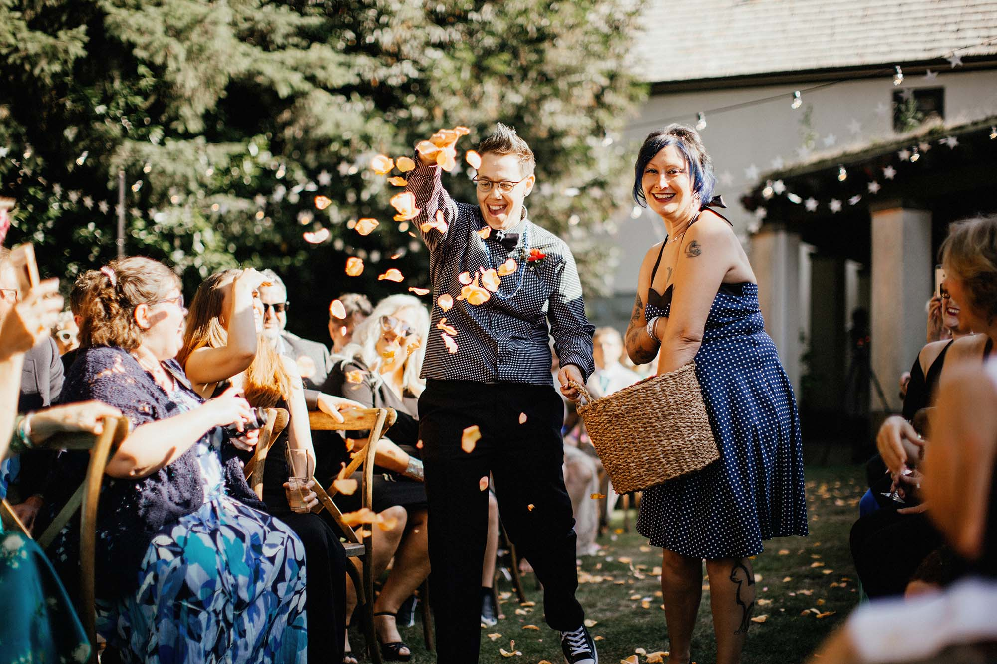 Portland garden wedding flowers