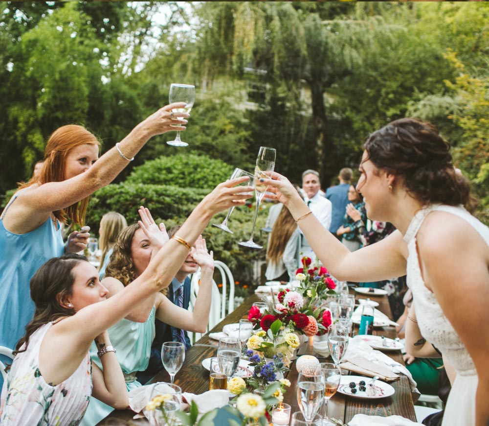 Portland Garden Wedding toast