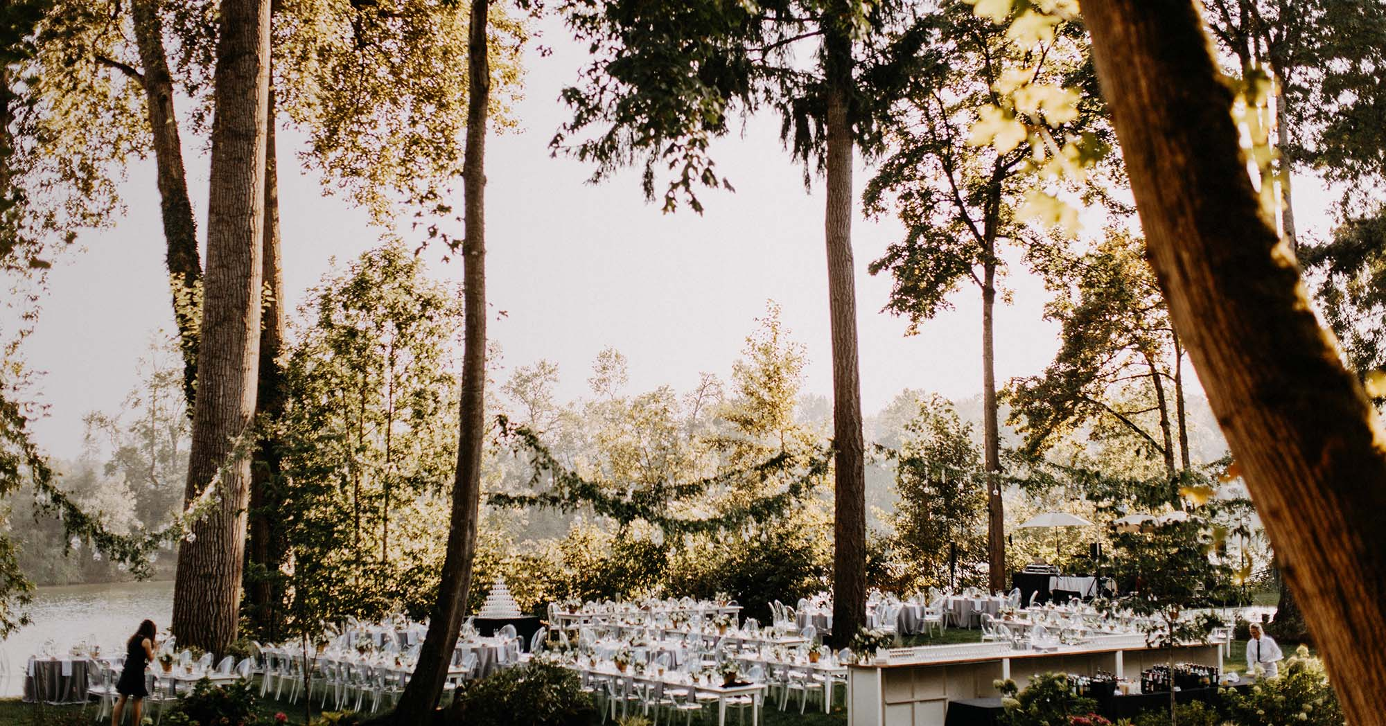 Bingham Estate outdoor wedding