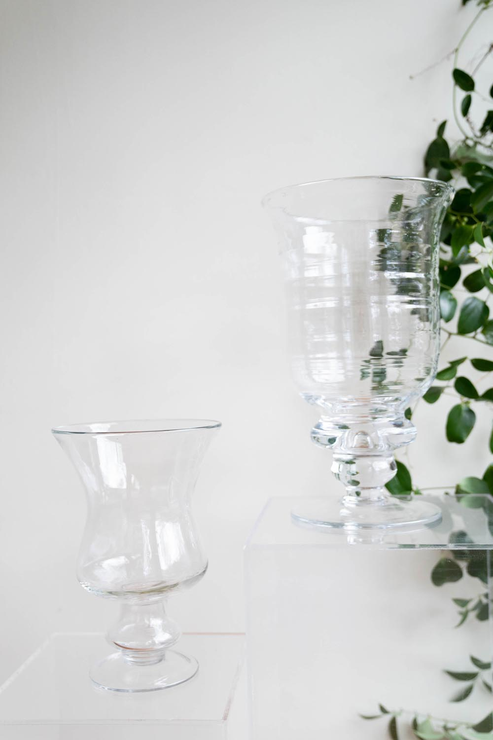 Clear Glass Urns