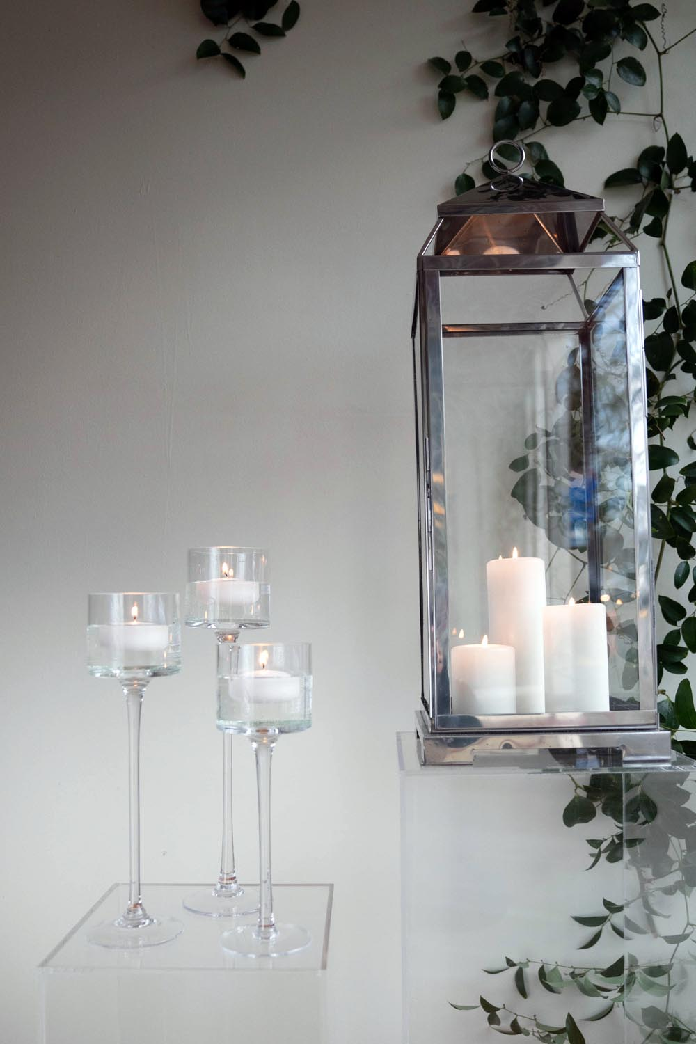 Floating Candle Holders and Malta Lantern