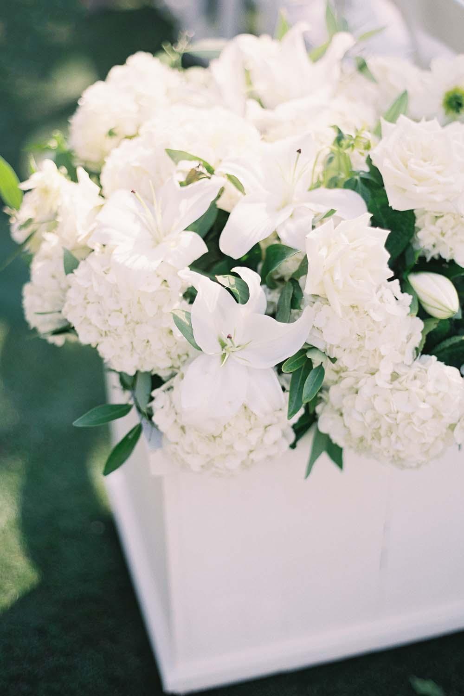 Square white planters